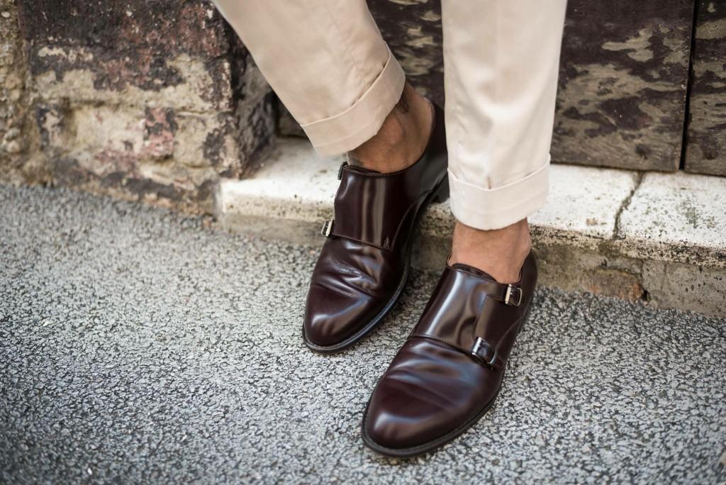 scarpe doppia fibbia