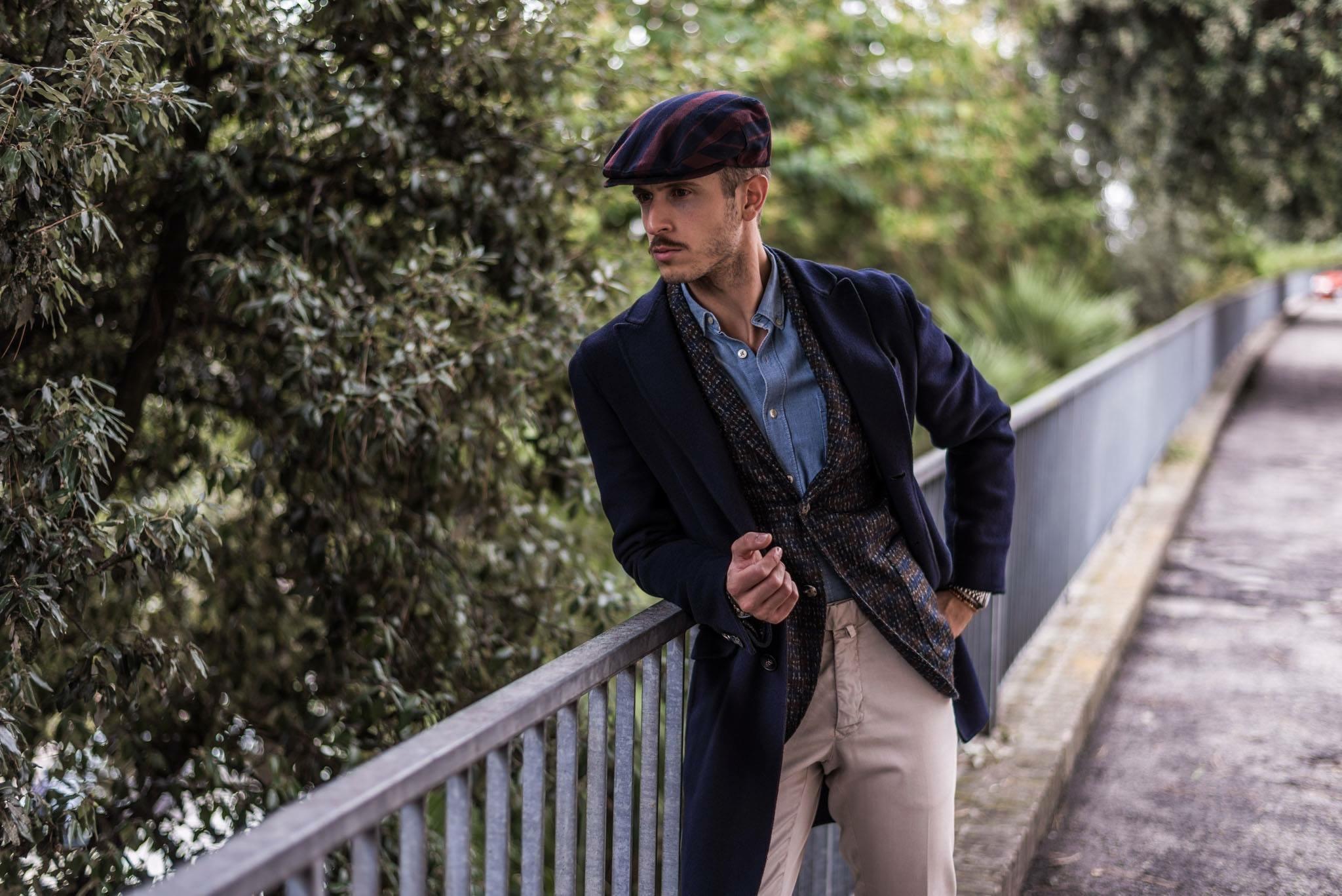 stile italiano coppola cappotti uomo cappotti hevò abbigliamento uomo ... c55e660d5194