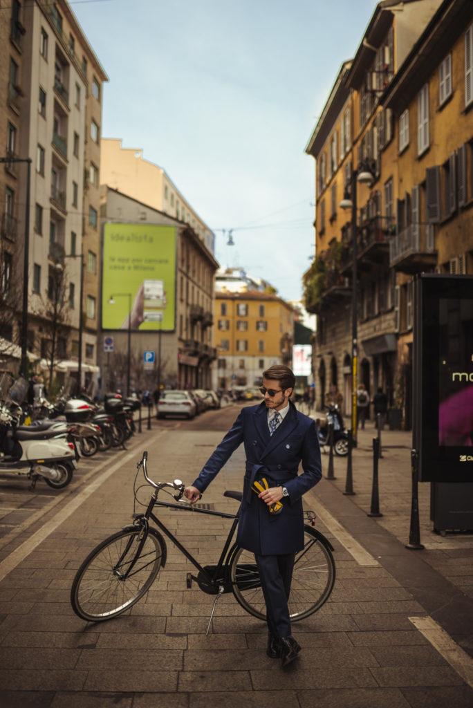 by bike in Milan _ Girard Perregaux Laureato Chrono