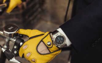 by bike in Milan _ Girard Perregaux Laureato Chrono